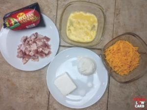 Keto Sausage, Bacon, Cheese Bites