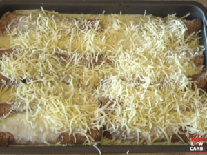 White Sauce Green Chili Chicken Enchiladas