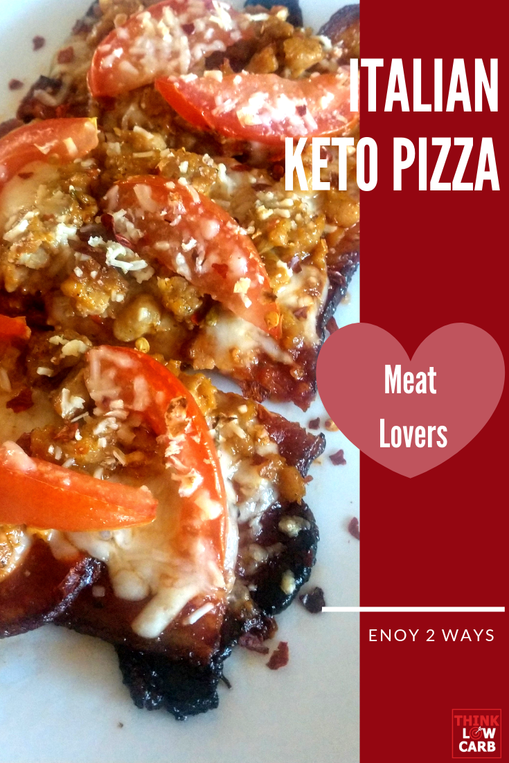 Keto Italian Meat Lovers Pizza