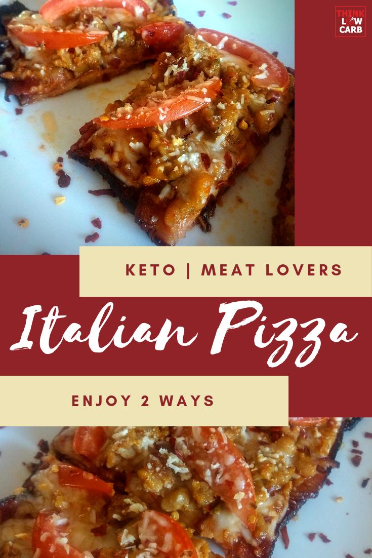 Keto Italian Meat Lovers Pizza