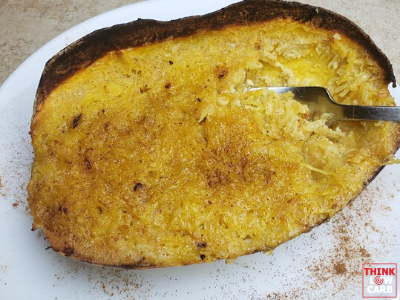 """Keto """"Coconut"""" Crustless Pie. A spaghetti squash dessert recipe"""