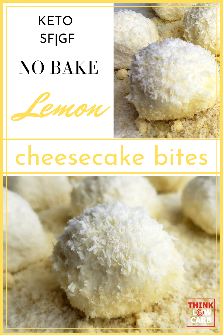 Keto No Bake Lemon Cheesecake Bites