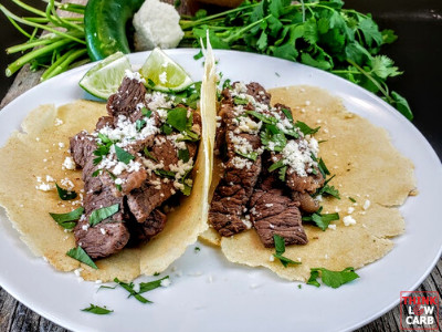 Keto Mexican Steak (Carne) Street Tacos